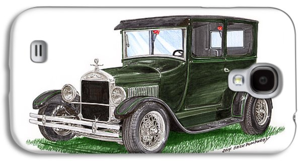 Hand Crafted Galaxy S4 Cases - 1926 Ford Tudor Sedan Street Rod Galaxy S4 Case by Jack Pumphrey