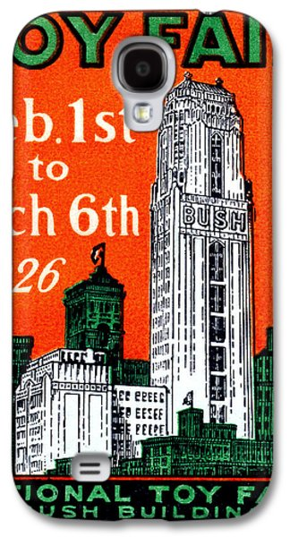 Toy Store Paintings Galaxy S4 Cases - 1926 New York City Toy Fair Poster Galaxy S4 Case by Historic Image