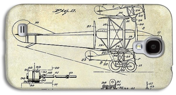 Airliner Galaxy S4 Cases - 1927 Airplane Patent Drawing Galaxy S4 Case by Jon Neidert