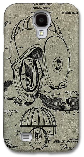 Wide Receiver Galaxy S4 Cases - 1927 Football Helmet Patent Galaxy S4 Case by Dan Sproul