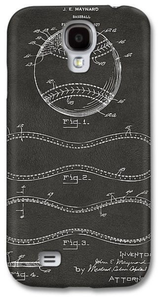 Athlete Digital Art Galaxy S4 Cases - 1928 Baseball Patent Artwork - Gray Galaxy S4 Case by Nikki Marie Smith