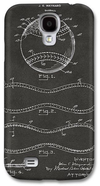 Sports Drawings Galaxy S4 Cases - 1928 Baseball Patent Artwork - Gray Galaxy S4 Case by Nikki Marie Smith