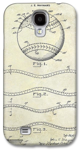 Sports Photographs Galaxy S4 Cases - 1928 Baseball Patent Drawing  Galaxy S4 Case by Jon Neidert