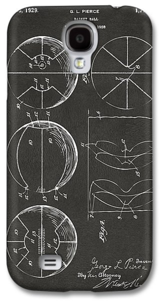 Basket Ball Game Galaxy S4 Cases - 1929 Basketball Patent Artwork - Gray Galaxy S4 Case by Nikki Marie Smith