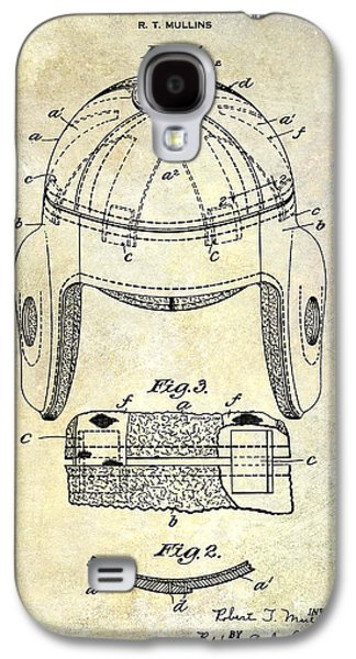 Recently Sold -  - Fantasy Photographs Galaxy S4 Cases - 1929 Football Helmet Patent Drawing Galaxy S4 Case by Jon Neidert