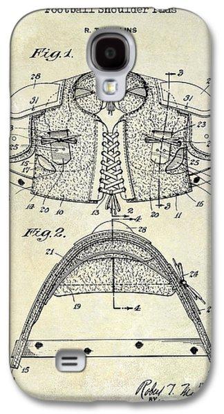 1929 Football Shoulder Pads Patent Drawing Galaxy S4 Case by Jon Neidert