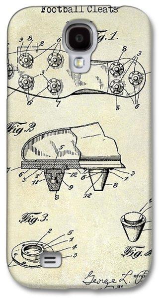 1930 Football Cleats Patent Drawing Galaxy S4 Case by Jon Neidert