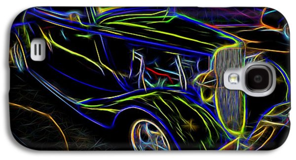 Industrial Mixed Media Galaxy S4 Cases - 1930s Ford Coupe Neon Abstract Galaxy S4 Case by Gary Whitton