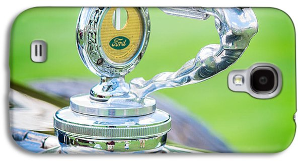 1931 Ford Model A Deluxe Fordor Hood Ornament Galaxy S4 Case by Sebastian Musial