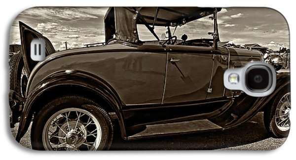Ford Model T Car Galaxy S4 Cases - 1931 Model T Ford monochrome Galaxy S4 Case by Steve Harrington