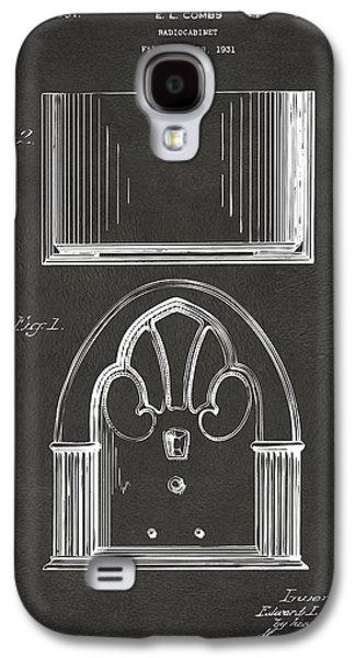 Radio Galaxy S4 Cases - 1931 Philco Radio Cabinet Patent Artwork - Gray Galaxy S4 Case by Nikki Marie Smith