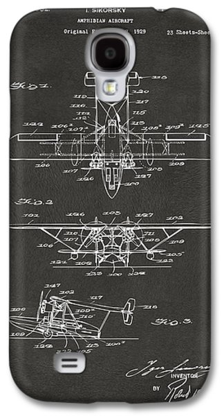 1932 Amphibian Aircraft Patent Gray Galaxy S4 Case by Nikki Marie Smith