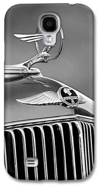 Transportation Photographs Galaxy S4 Cases - 1933 Pontiac Hood Ornament - Emblem -0385BW Galaxy S4 Case by Jill Reger