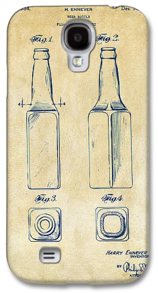 1934 Beer Bottle Patent Artwork - Vintage Galaxy S4 Case by Nikki Marie Smith