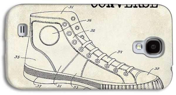 Nike Galaxy S4 Cases - 1934 Converse Shoe Patent Drawing Galaxy S4 Case by Jon Neidert