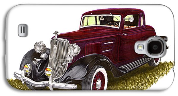 Suspension Drawings Galaxy S4 Cases - 1934 Plymouth P E Coupe Galaxy S4 Case by Jack Pumphrey