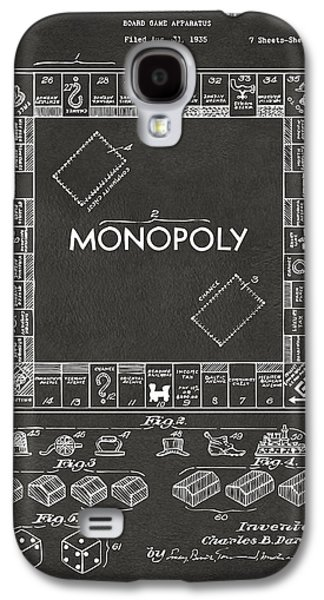 1935 Monopoly Game Board Patent Artwork - Gray Galaxy S4 Case by Nikki Marie Smith