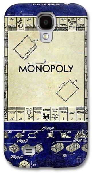 1935 Monopoly Patent Drawing 2 Tone Blue Galaxy S4 Case by Jon Neidert