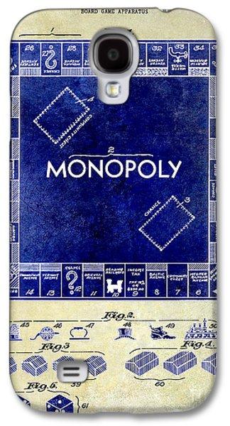 1935 Monopoly Patent Drawing 2 Tone  Galaxy S4 Case by Jon Neidert