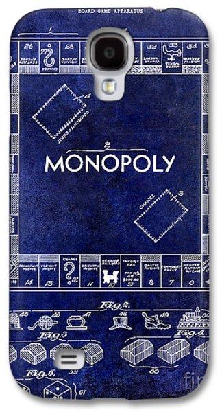 1935 Monopoly Patent Drawing Blue Galaxy S4 Case by Jon Neidert