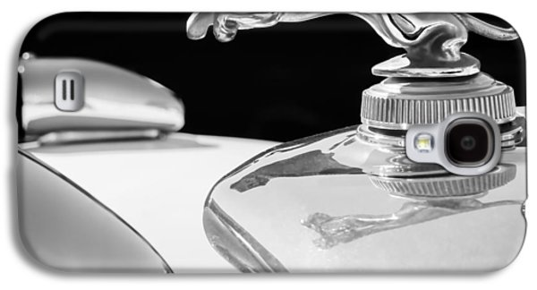 Photography Prints Galaxy S4 Cases - 1937 Jaguar Prototype Hood Ornament -386bw55 Galaxy S4 Case by Jill Reger