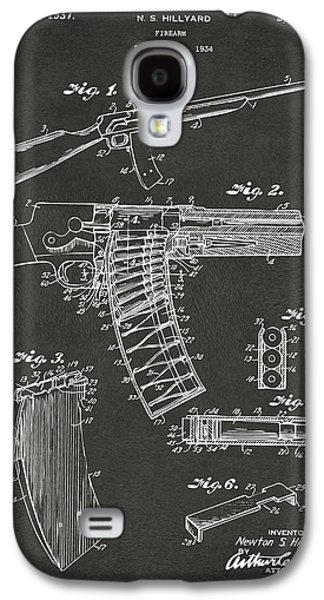 Police Galaxy S4 Cases - 1937 Police Remington Model 8 Magazine Patent Artwork - Gray Galaxy S4 Case by Nikki Marie Smith
