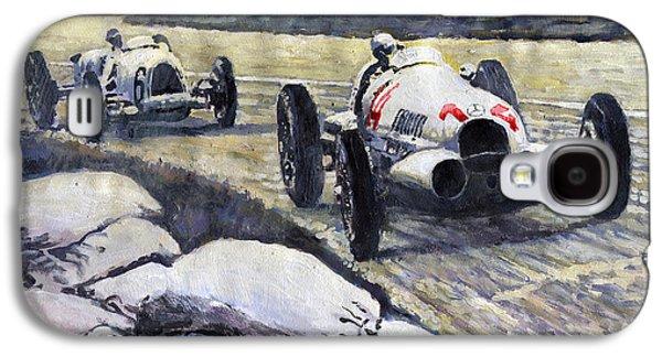 Swiss Paintings Galaxy S4 Cases - 1937 Rudolf Caracciola winning Swiss GP W 125 Galaxy S4 Case by Yuriy Shevchuk