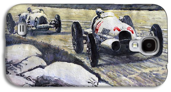 1937 Rudolf Caracciola Winning Swiss Gp W 125 Galaxy S4 Case by Yuriy Shevchuk