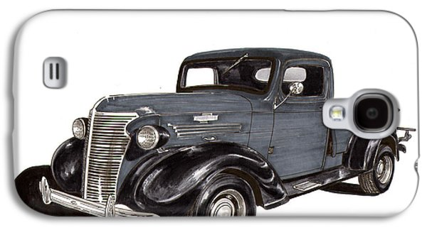 Pen And Ink Framed Prints Galaxy S4 Cases - 1938 Chevy Pickup Galaxy S4 Case by Jack Pumphrey