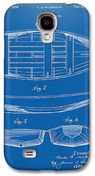 Row Boat Digital Galaxy S4 Cases - 1938 Rowboat Patent Artwork - Blueprint Galaxy S4 Case by Nikki Marie Smith