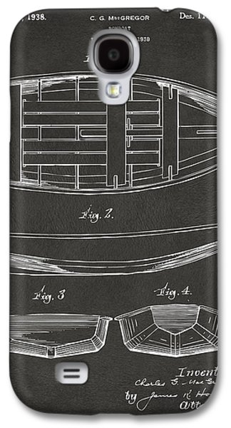 Row Boat Digital Galaxy S4 Cases - 1938 Rowboat Patent Artwork - Gray Galaxy S4 Case by Nikki Marie Smith