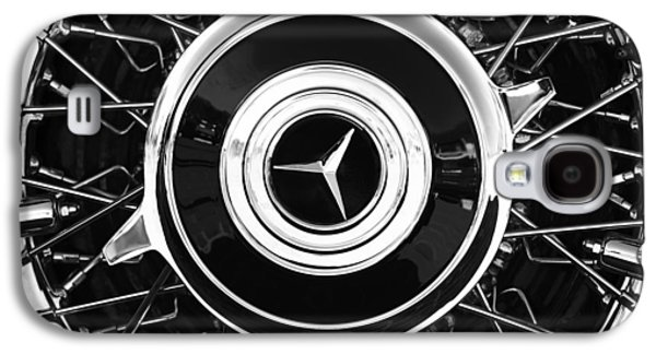 Transportation Photographs Galaxy S4 Cases - 1939 Mercedes-Benz 540K Special Roadster Wheel Rim Emblem Galaxy S4 Case by Jill Reger