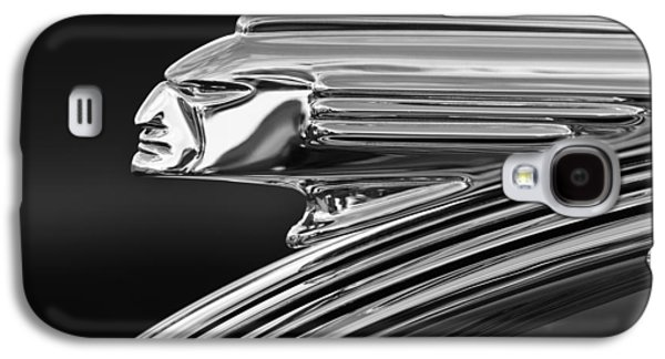 Collector Hood Ornament Galaxy S4 Cases - 1939 Pontiac Silver Streak Hood Ornament 3 Galaxy S4 Case by Jill Reger
