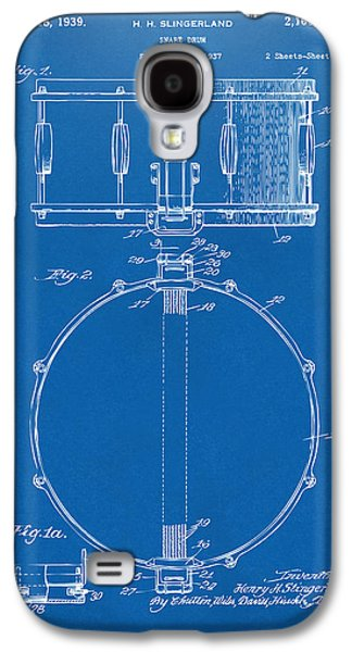 1939 Snare Drum Patent Blueprint Galaxy S4 Case by Nikki Marie Smith