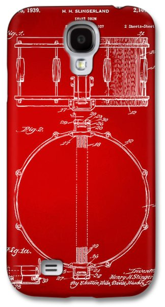 1939 Snare Drum Patent Red Galaxy S4 Case by Nikki Marie Smith