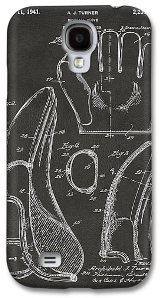 Baseball Glove Galaxy S4 Cases - 1941 Baseball Glove Patent - Gray Galaxy S4 Case by Nikki Marie Smith