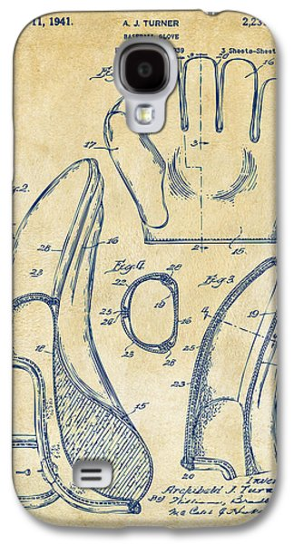 Baseball Glove Galaxy S4 Cases - 1941 Baseball Glove Patent - Vintage Galaxy S4 Case by Nikki Marie Smith