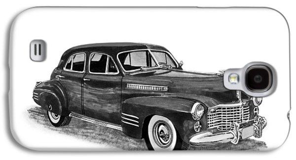 80s Drawings Galaxy S4 Cases - 1941 Cadillac Fleetwood Sedan Galaxy S4 Case by Jack Pumphrey