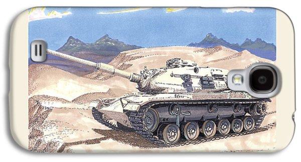 Suspension Drawings Galaxy S4 Cases - 1941 General Patton M 60 Medium Tank Galaxy S4 Case by Jack Pumphrey
