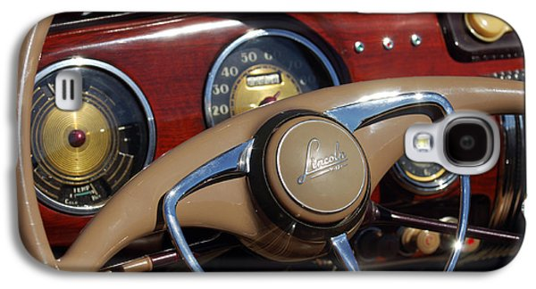 Car Abstract Photographs Galaxy S4 Cases - 1941 Lincoln Continental Cabriolet V12 Steering Wheel Galaxy S4 Case by Jill Reger
