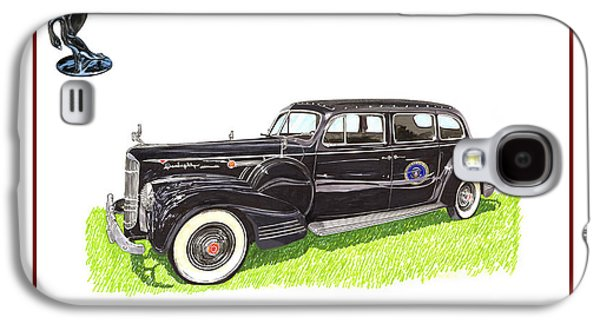 Franklin Drawings Galaxy S4 Cases - 1941 Packard 180 presidential limousine Galaxy S4 Case by Jack Pumphrey