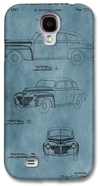 Mechanics Mixed Media Galaxy S4 Cases - 1941 Plymouth Patent Blue Galaxy S4 Case by Dan Sproul