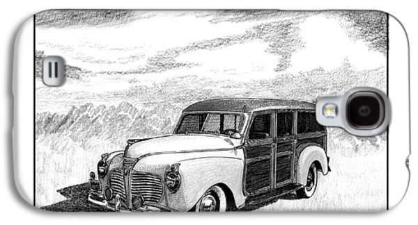 Pen And Ink Framed Prints Galaxy S4 Cases - 1941 Plymouth Woody Galaxy S4 Case by Jack Pumphrey