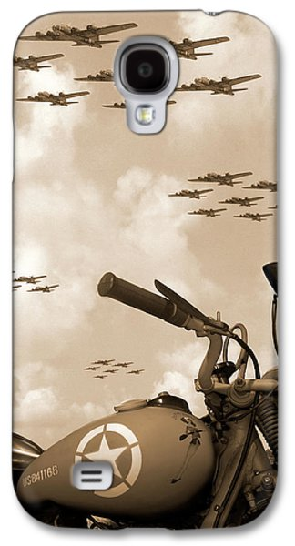 B Galaxy S4 Cases - 1942 Indian 841 - B-17 Flying Fortress Galaxy S4 Case by Mike McGlothlen