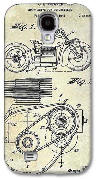 Recently Sold -  - Transportation Photographs Galaxy S4 Cases - 1943 Indian Motorcycle Patent Drawing Galaxy S4 Case by Jon Neidert