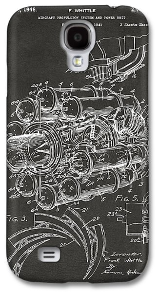 Jets Galaxy S4 Cases - 1946 Jet Aircraft Propulsion Patent Artwork - Gray Galaxy S4 Case by Nikki Marie Smith