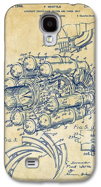 Jets Galaxy S4 Cases - 1946 Jet Aircraft Propulsion Patent Artwork - Vintage Galaxy S4 Case by Nikki Marie Smith