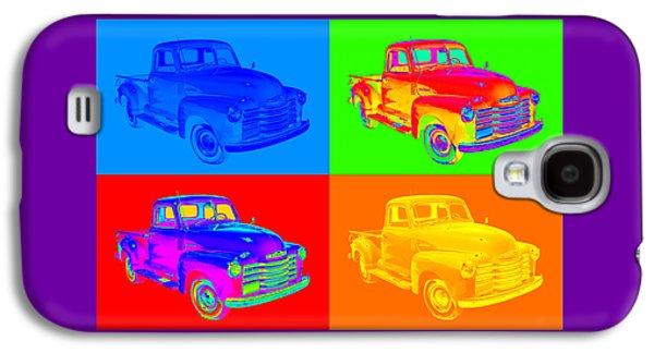 Nostalgia Digital Art Galaxy S4 Cases - 1947 Chevrolet Thriftmaster Pickup Pop Art Galaxy S4 Case by Keith Webber Jr