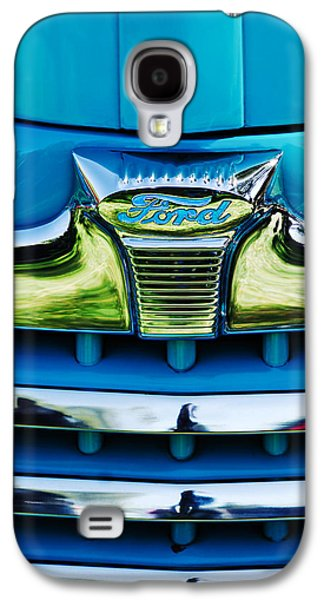 Transportation Photographs Galaxy S4 Cases - 1947 Ford Deluxe Grille Ornament -0700c Galaxy S4 Case by Jill Reger