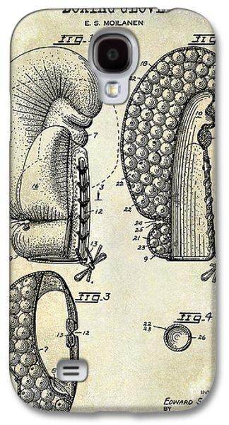 1948 Boxing Glove Patent Drawing Galaxy S4 Case by Jon Neidert
